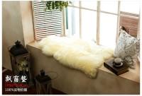 新西兰直邮【包邮】 羊皮毛垫  纯羊毛垫 本色米黄色 单拼羊毛垫皮草垫 60*100CM