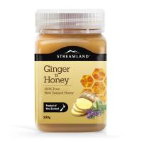 新西兰直邮 streamland新溪岛生姜蜂蜜百里香姜蜜500g