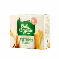 新西兰直邮 Only Organic Teething Rusks 磨牙棒 100g 6+