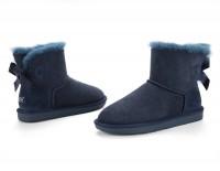 澳洲直邮 DK UGG  DK016 防泼水灯芯绒单蝴蝶结 皮毛一体低筒mini雪地靴