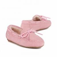 新西兰直邮 UGG EMU K11445AmityEMU儿童蝴蝶结豆豆 鞋(粉色,栗色)