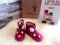 新西兰直邮 UGG EMU K10910HOTP  EMU卡粉色小兔子小童中筒雪地靴(桃红色)