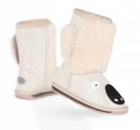 新西兰直邮 UGGEMU K11330SILV EMU小童羊皮毛考拉中筒雪地靴(银色)