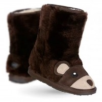 新西兰直邮 UGGEMU K11104  EMU卡通小棕熊小童中筒雪地靴(棕色