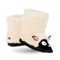 新西兰直邮 UGGEMU EMU K10648NATU儿童小羊中筒雪地靴(白色)