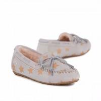 新西兰直邮 UGGEMU  K11474BIRC EMU儿童金色星星豆豆鞋(灰色)