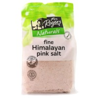 新西兰直邮 Mrs Rogers 纯天然有机粉红色喜马拉雅盐 袋装粉状细盐 1kg