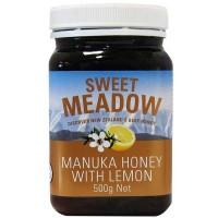 【特价】新西兰直邮 sweet meadow麦卢卡柠檬蜂蜜 500g 保质期18年9月