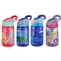 Contigo 儿童吸管杯防漏水壶夏季防摔可爱便携宝宝喝水杯子 三种图案 414ml