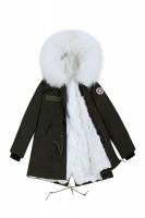 【澳洲 EDGII】 ED1033(绿+白狐狸毛)皮草大衣派克 顺丰包邮
