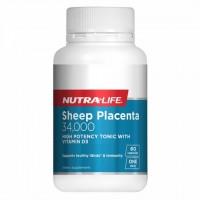 纽乐 Sheep Placenta 34000 羊胎素片60片