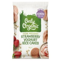 Only Organic 1-5岁儿童有机辅食 草莓酸奶米饼 60g