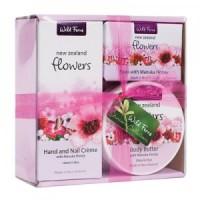 帕氏花卉礼盒套装3件套(护手霜+蜂蜜香皂+身体滋润霜)