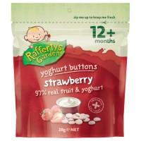 Raffertys 酸奶溶豆 草莓味 28g 12月+ Strawberry Yogurt Button Snacks