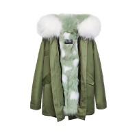 【澳洲 OZLANA】AU182015(绿+抹茶满天星狐狸毛)国内现货包邮皮草大衣