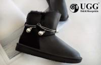 DK UGG 女鞋 DK029 防泼水珍珠蛇骨链 1.5cm内增高皮毛一体雪地靴