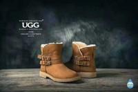 清仓特价 OZWEAR UGBG 澳洲直邮 OB268 双皮带装饰时尚mini短靴
