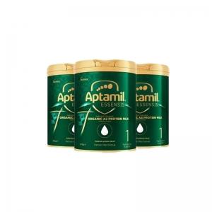 【澳洲直邮-澳邮】爱他美 Aptamil 有机A2 一段 [绿罐奇迹版] 900g2021/10 三罐包邮